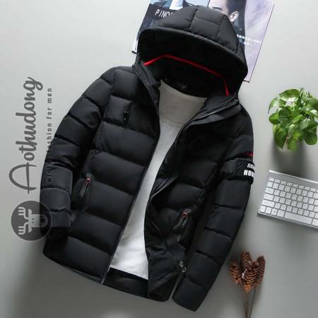 Áo khoác phao nam đen hàng hiệu