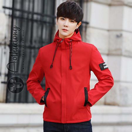 Áo khoác gió nam đỏ hàng hiệu