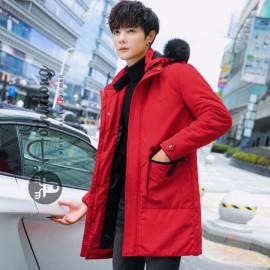 Áo khoác nam dáng dài đỏ cao cấp
