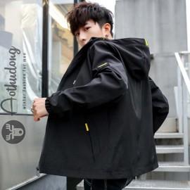 Áo khoác gió nam đen 2 lớp đẹp
