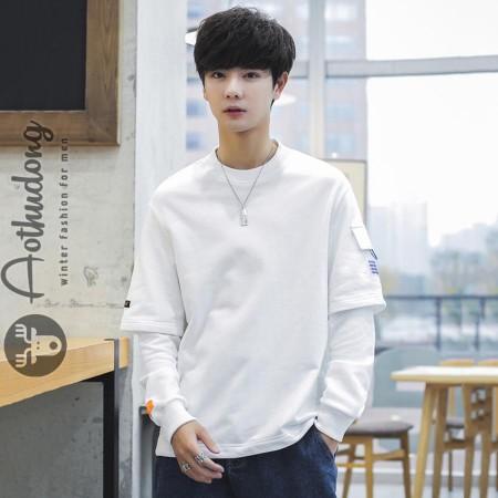 Áo thun nam dài tay trắng cực chất