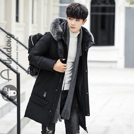 Áo khoác phao đại hàn nam đen