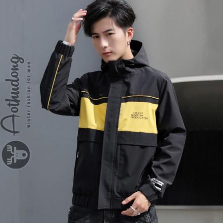 Áo gió nam vàng đen túi hộp đẹp