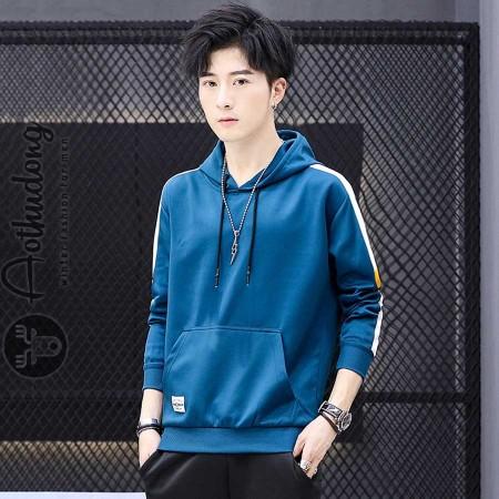 Áo thu đông hoodie nam xanh