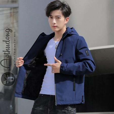 Áo gió lót lông nam xanh cao cấp